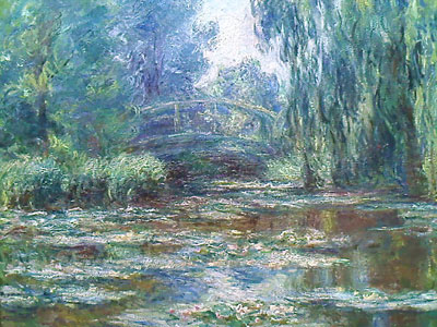 Picture of a Monet taken at the Getty Museum