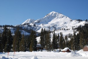 Brighton Utah in Big Cottonwood Canyon in Winter
